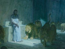 """Daniel in the Lions' Den"" by Henry Ossawa Tanner at LACMA"