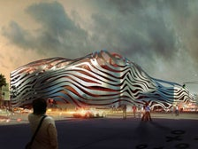 Rendering of Petersen Automotive Museum exterior