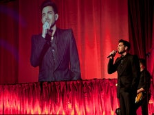 Adam Lambert performs at the 2015 Attitude Awards