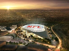 Rendering of City of Champions Stadium at sunset
