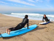 Surf lesson at El Porto in Manhattan Beach