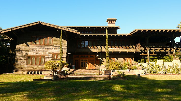 """The Gamble House aka Doc Brown's house in """"Back to the Future"""""""
