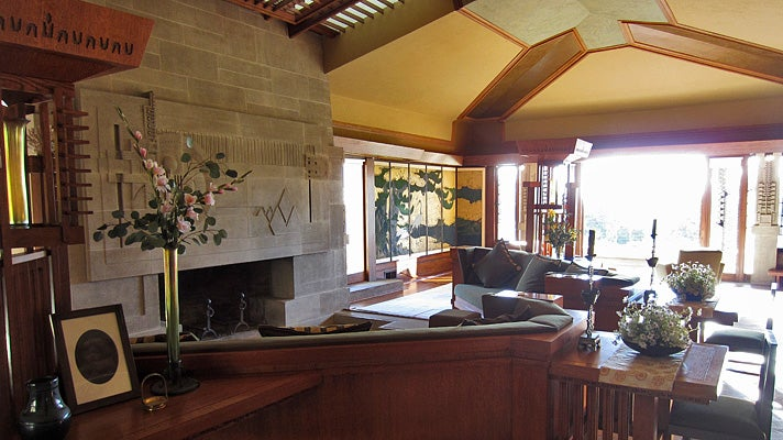 Living room of Hollyhock House