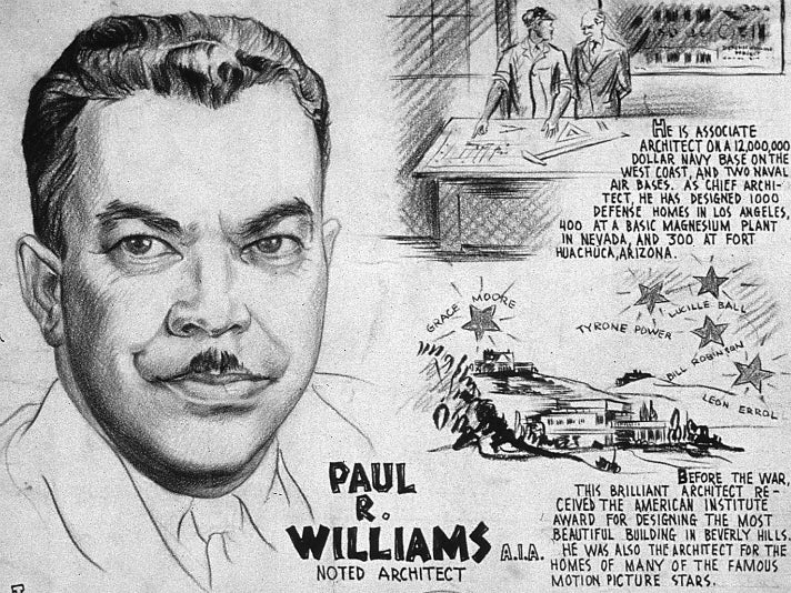 """""""PAUL R. WILLIAMS, A.I.A. - NOTED ARCHITECT"""""""
