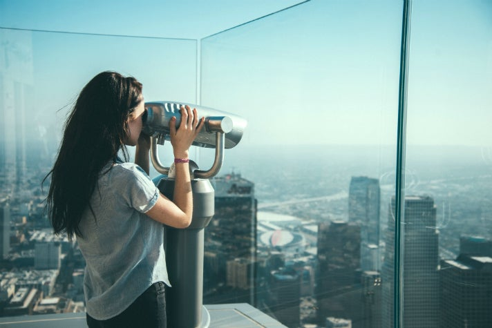 Observation deck at OUE Skyspace LA