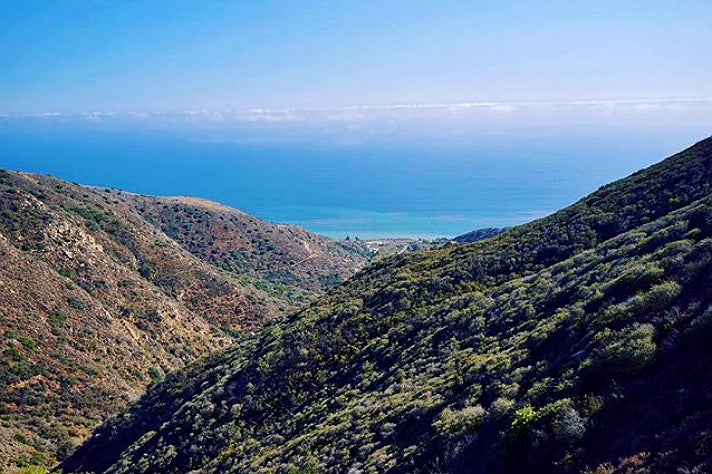 View from Nicholas Flat Trail at Leo Carrillo State Park