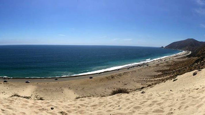 View from the top of the PCH Sandhill