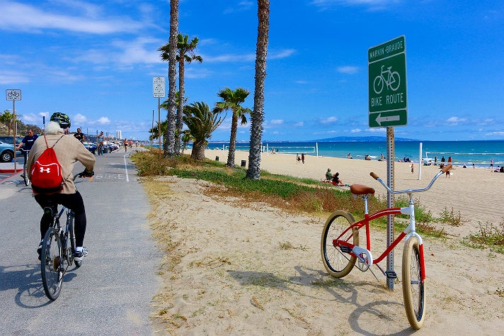 The Marvin Braude Bike Trail at Will Rogers State Beach