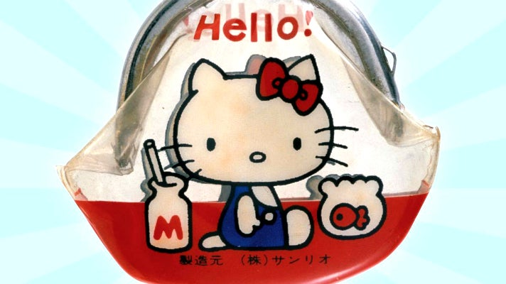 Replica of the original Hello Kitty coin purse