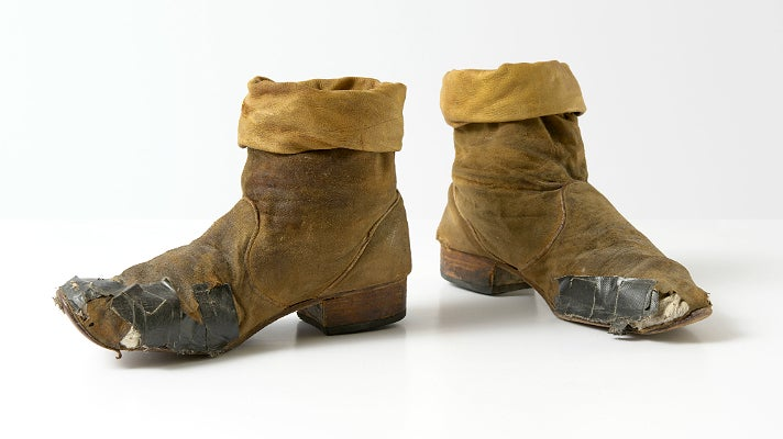 "Boots worn by Keith Richards during the Rolling Stones' 1981 ""Tattoo You"" tour"