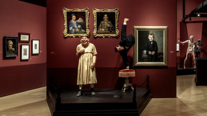 "Schlitzie and Half Boy from ""Freaks"" at ""Guillermo del Toro: At Home with Monsters,"" LACMA"