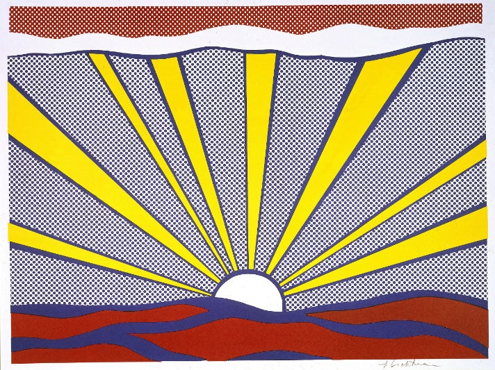 "Roy Lichtenstein, ""Sunrise"" (1965) at Skirball Cultural Center"