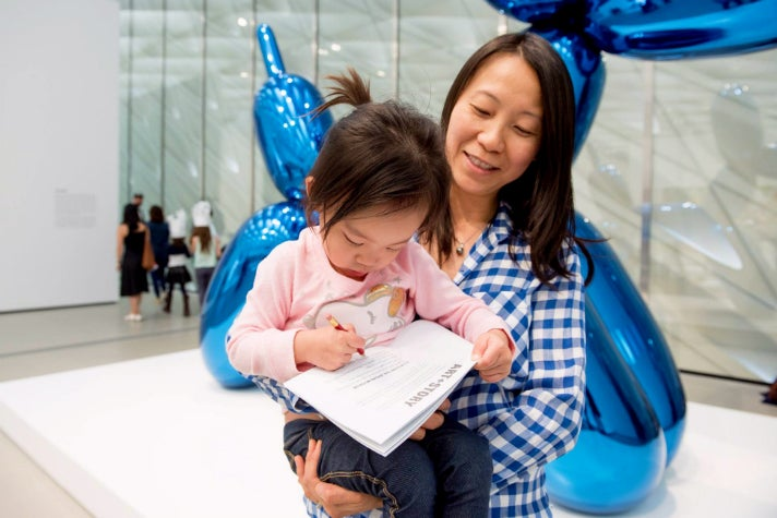 Family Weekend Workshop at The Broad
