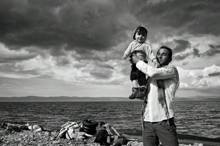 Photo by Tom Stoddart, Lesbos, Greece, 2015.