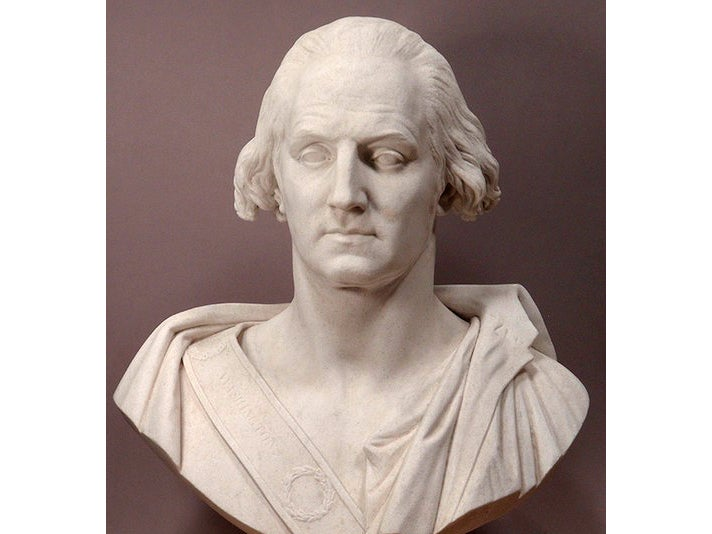 Bust of George Washington at The Huntington Library