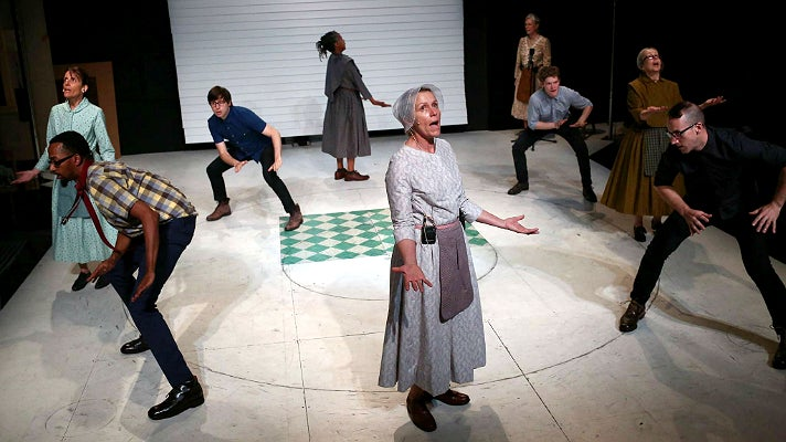"Frances McDormand in The Wooster Group production, ""Early Shaker Spirituals"" at REDCAT"