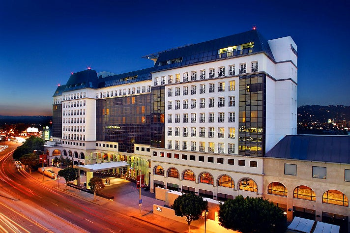 Sofitel Los Angeles at night