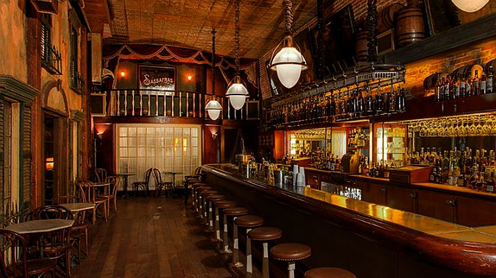 Interior of Sassafras Saloon
