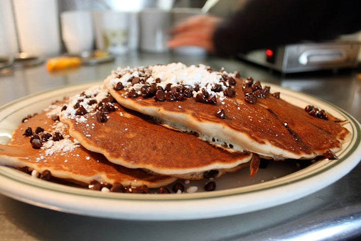 Chocolate chip pancakes at Uncle Bill's Pancake House