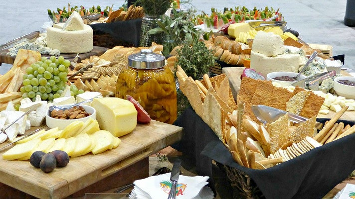 Artisanal cheese board at the Los Angeles Convention Center