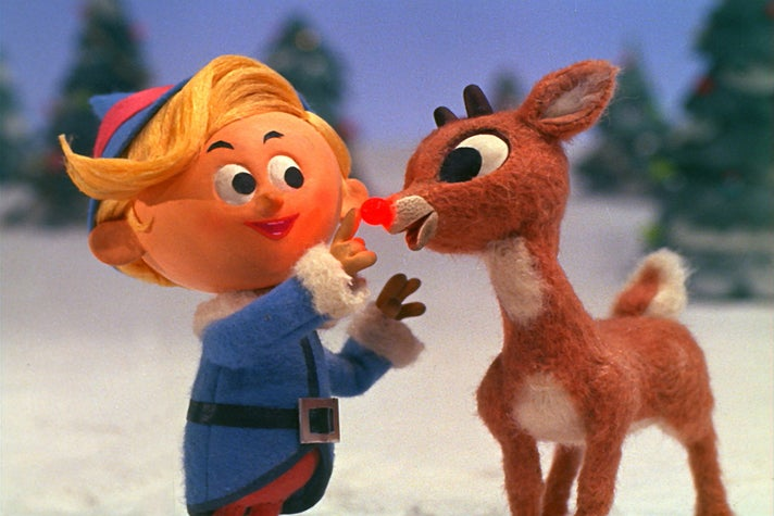 "Hermey the Elf and Rudolph in ""Rudolph the Red-Nosed Reindeer"" (1964)"