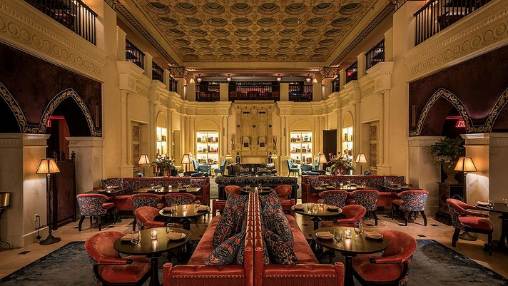 Lobby of the NoMad Los Angeles