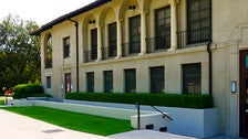 "East side of Occidental's Johnson Student Center and Freeman College Union from ""Clueless"""