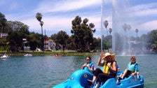 Echo Park Lake Pedal Boats