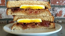 Breakfast sandwich at Chimney Coffee House