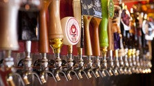 Beer taps at Far Bar