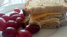 Turkey and cheddar sandwich at Huckleberry Cafe & Restaurant