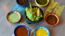 Guacamole and salsa at Pez Cantina