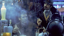 """Rick Deckard and Gaff at the White Dragon Noodle Bar in """"Blade Runner"""""""