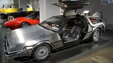 """DeLorean Time Machine from """"Back to the Future"""" at Petersen Automotive Museum"""