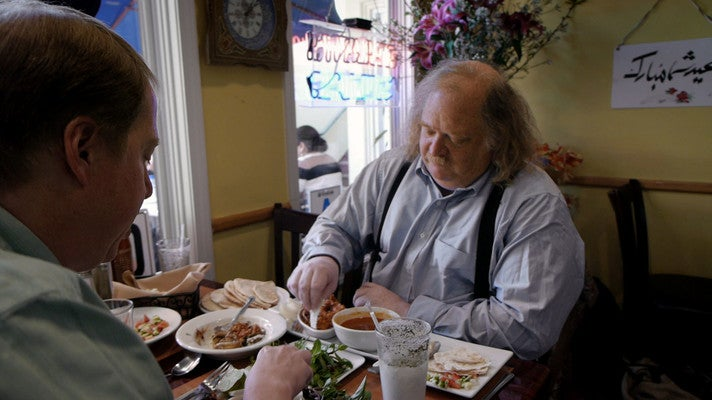 "Jonathan Gold eating lunch in ""City of Gold"""