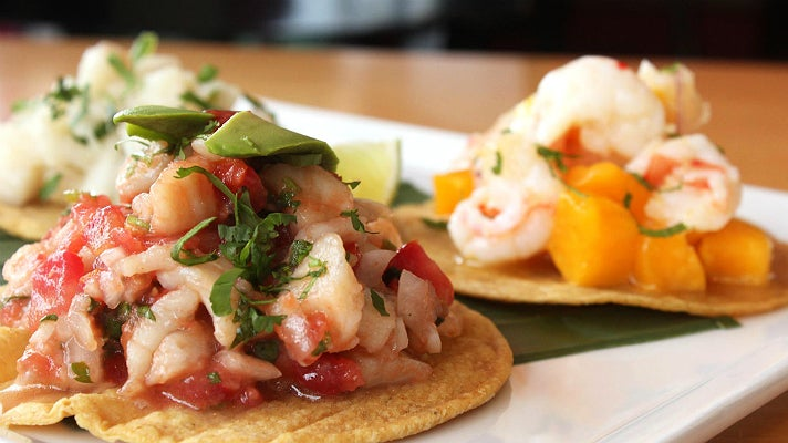 Red snapper ceviche at Loteria Grill FIGat7th