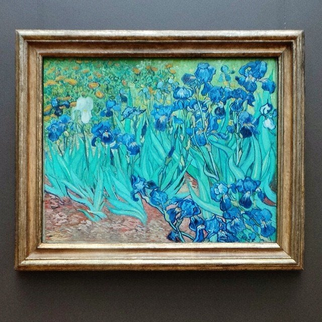 """Vincent van Gogh's """"Irises"""" at the Getty Center"""