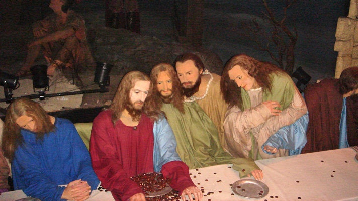 """""""The Last Supper"""" at Hollywood Wax Museum"""