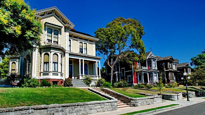 Victorian manors on Carroll Avenue in Echo Park