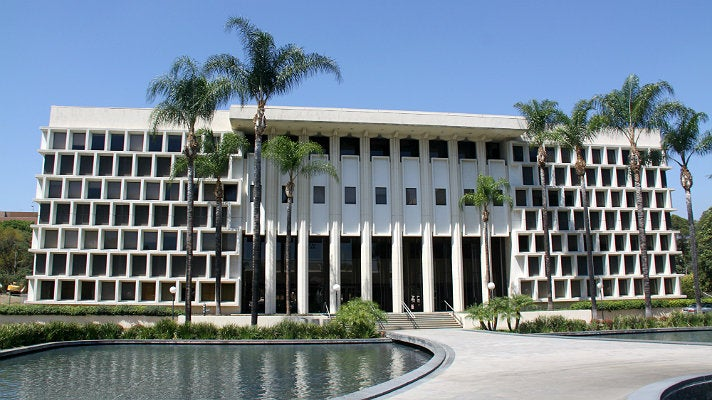 "Hall of Administration at Ambassador College, from ""Fast & Furious"""
