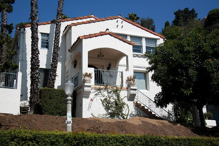 The Jackson family's first L.A. home at 1601 Queens Rd.