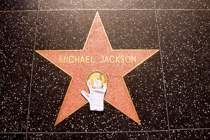 Michael Jackson's star on the Hollywood Walk of Fame