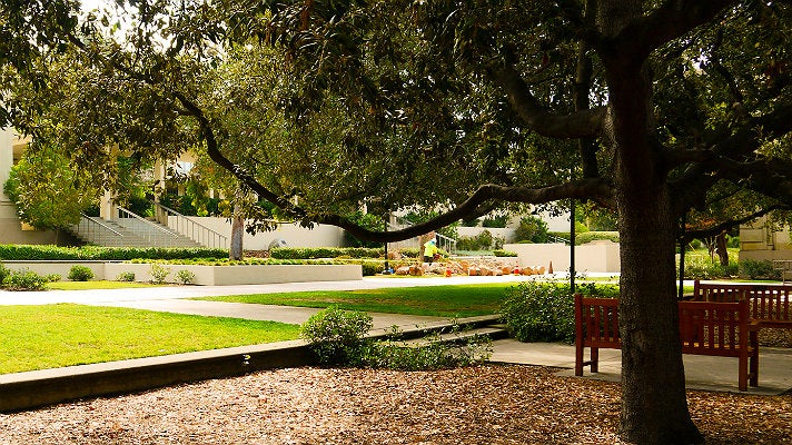 "Southern end of the Central Quadrangle at Occidental College from ""Clueless"""