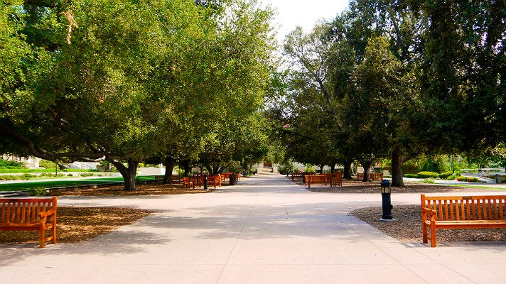 "Central Quadrangle at Occidental College from ""Clueless"""
