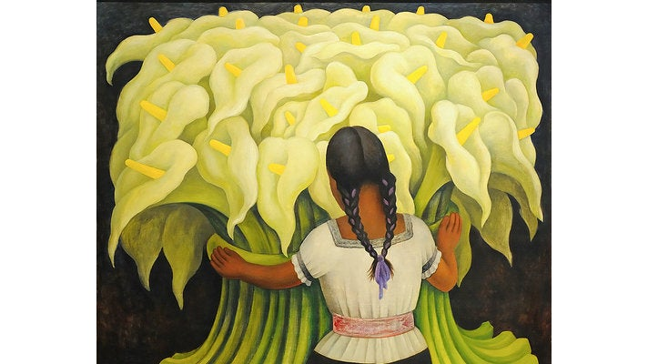 """The Flower Vendor (Girl with Lilies)"" at the Norton Simon Museum"
