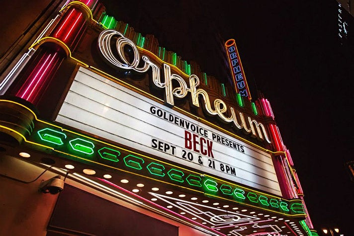 The Orpheum Theatre marquee