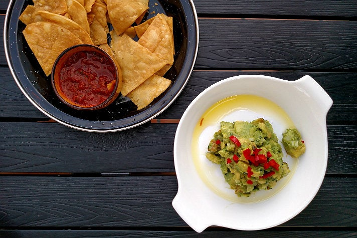 Charred pineapple guacamole at Cascabel