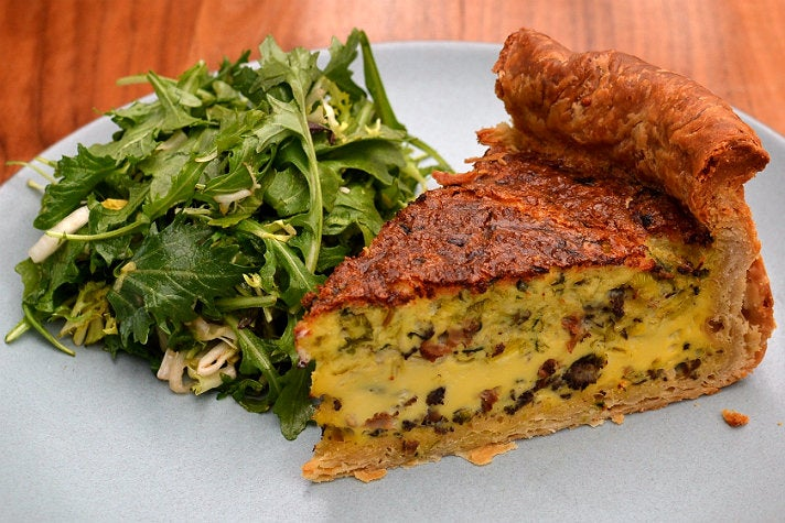 Seasonal quiche at Redbird