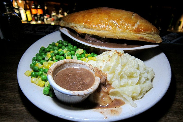 Steak, Guinness & Mushroom Pie at Ye Olde King's Head
