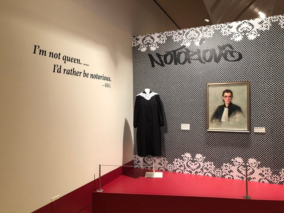 "Entrance to ""Notorious RBG"" at the Skirball Cultural Center"